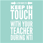 How to keep in touch with your teacher during NTI