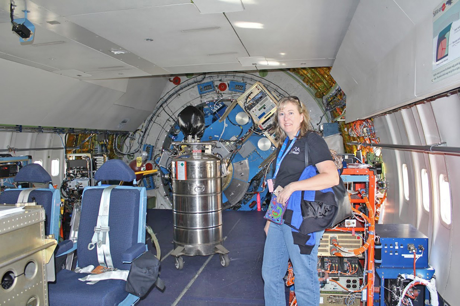 Chemistry teacher Heidi Anderson went on a 10-hour flight aboard a NASA stratospheric observatory.