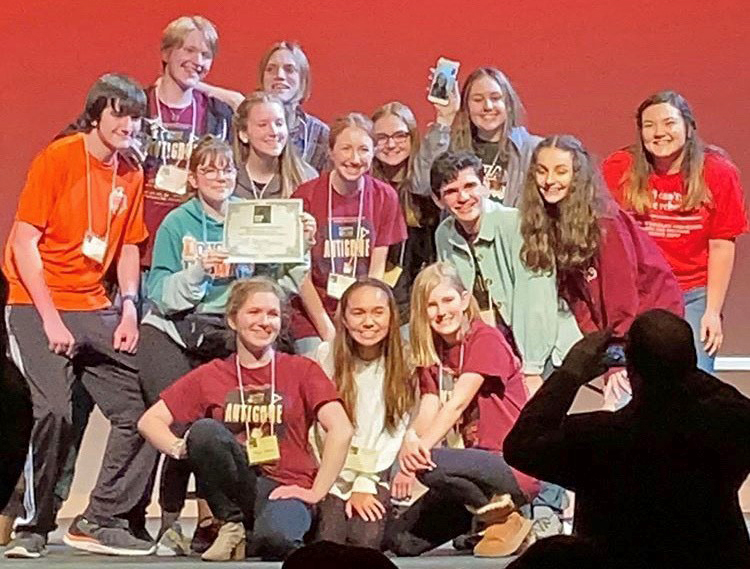 Theater students earn Best Newcomer award at state festival