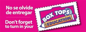 Box Tops logo reads don't forget to turn in your box tops