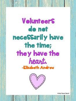 For Our Volunteers