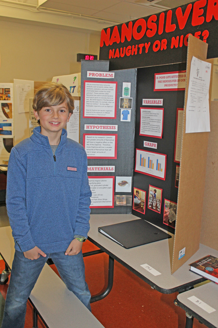 Maddox Adams at the science fair