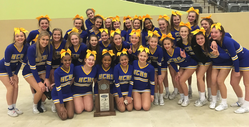 Henry Clay cheerleaders placed second at state.