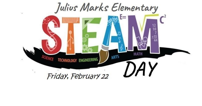 multicolored logo with tools spelling the word STEAM