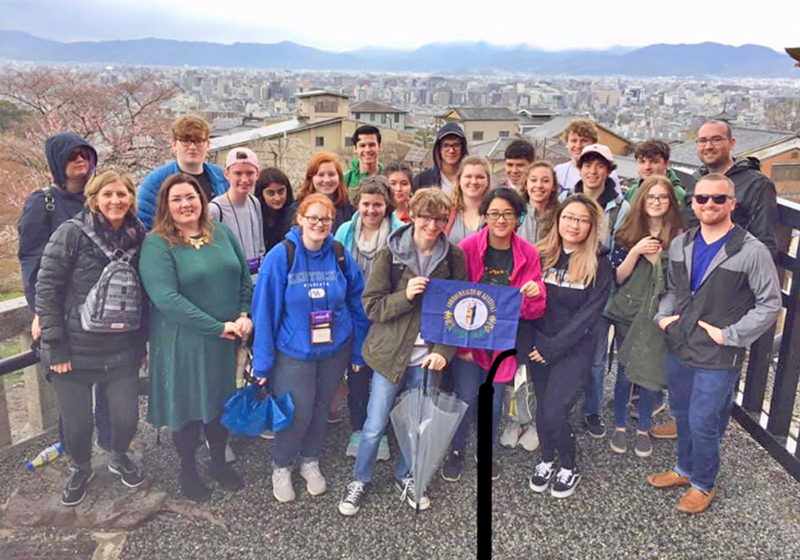 Thirteen of the 20 students who visited Japan over spring break were from Lafayette.