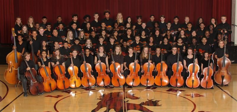 The Leestown Middle School Seventh and Eighth Grade Orchestras performed at the KMEA 2018 Profession