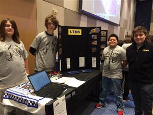 Drone coding group at Regional STLP competition