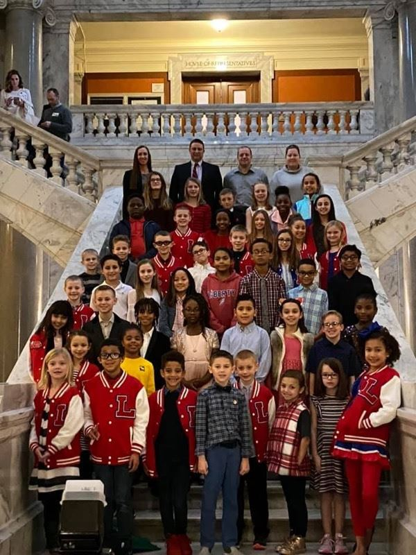 Liberty Track & Field Team Recognized at the State Capitol