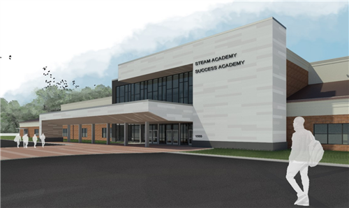Artist's rendering of the renovated facility at 1555 Georgetown Rd.