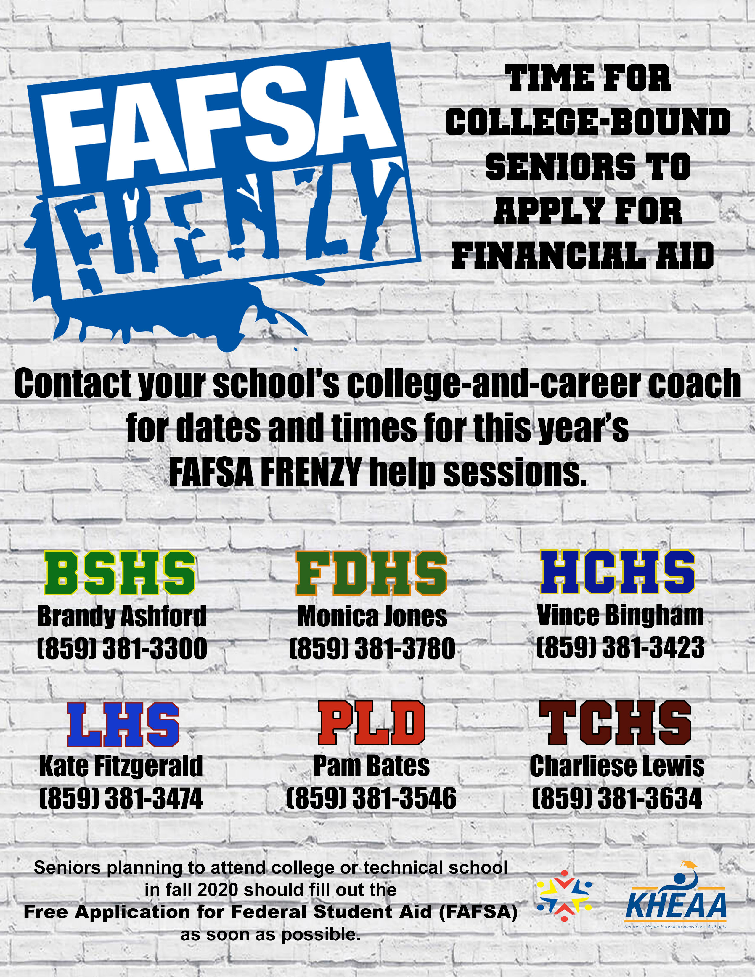 FAFSA Frenzy poster