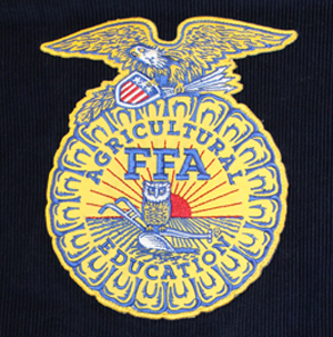 FFA emblem on back of a jacket