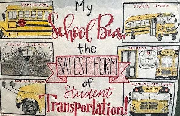 Bus Safety Week poster