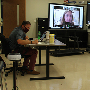 Teachers are conducting classes remotely as students learn at home.
