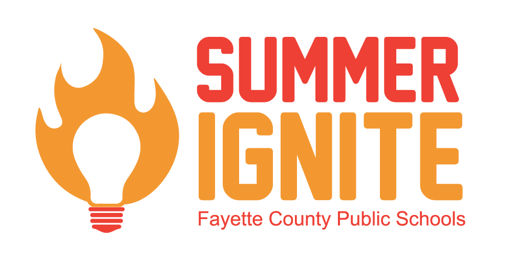 Summer Ignite logo with lightbulb and flames