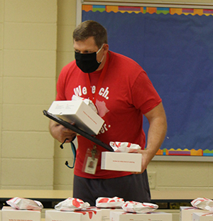 Teachers and staff were treated to free lunch from Chick-fil-A.