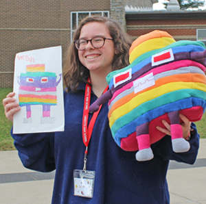 Lafayette students took kids' artwork and turned it into plush animals.
