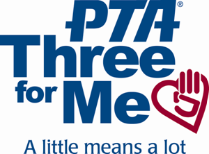 "PTA 3 for me logo. Subtitle says ""A little means a lot"""