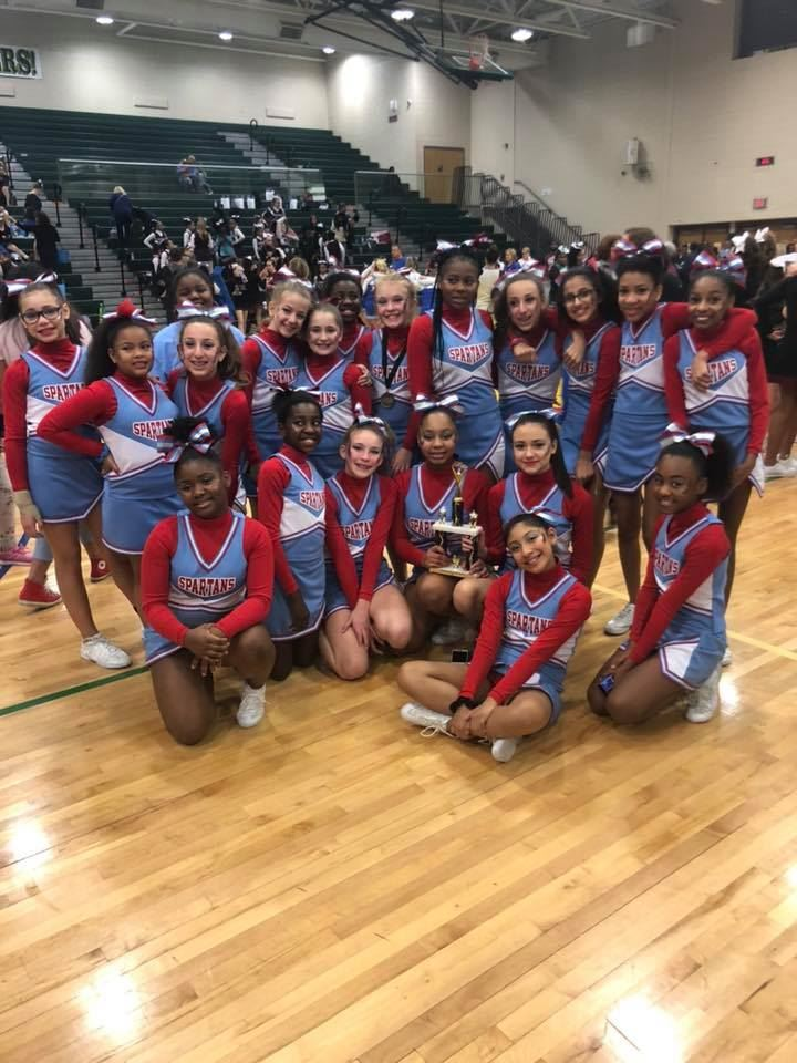 SMS Cheerleaders Compete in Middle School Showcase