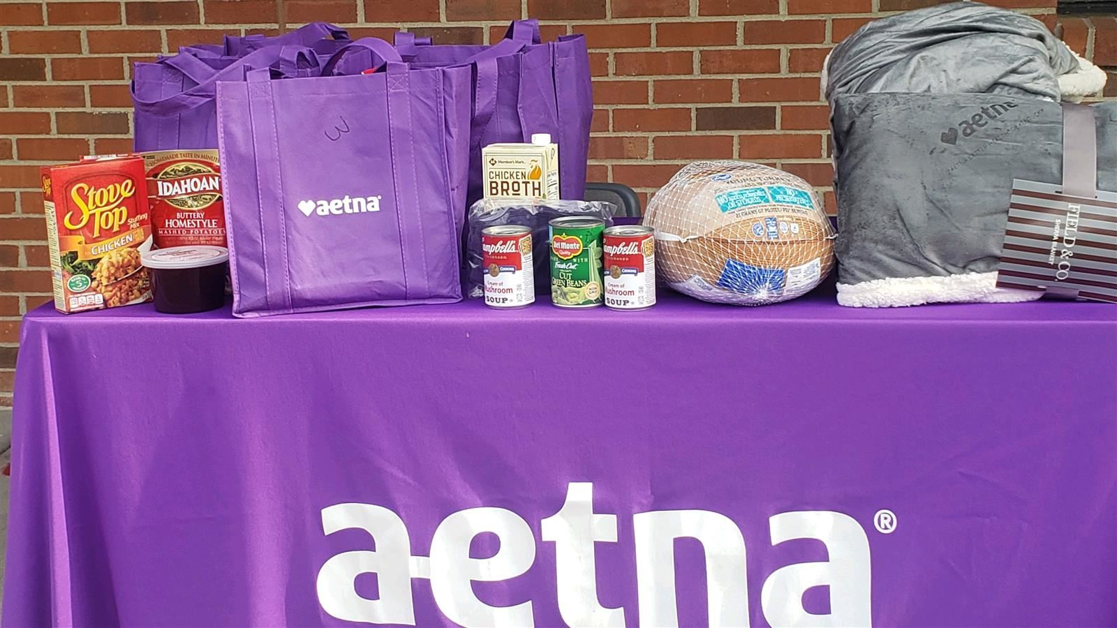 Thank You Aetna Insurance Company and God's Pantry Food Bank