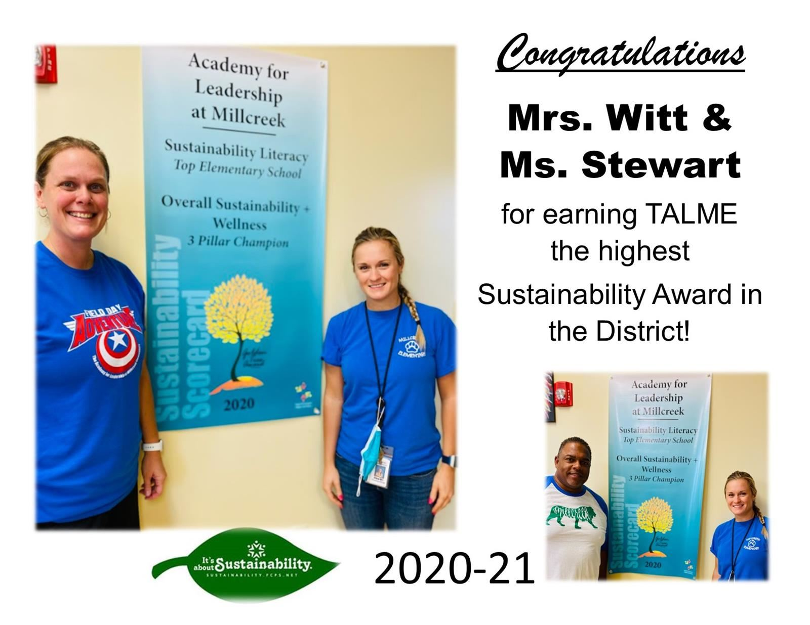 2020 District Sustainability Award