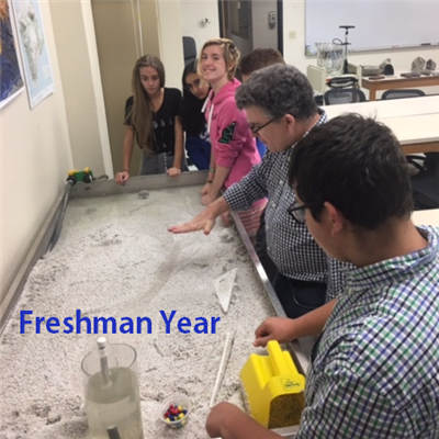 Freshman Year: Freshmen explore geology at UK.
