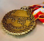 Governor's Cup medal with ribbon